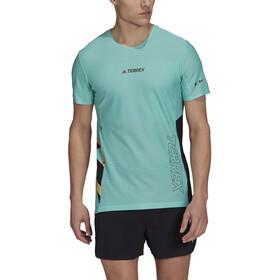 adidas TERREX Parley Agravic TR Pro T-shirt Herrer, sort/turkis